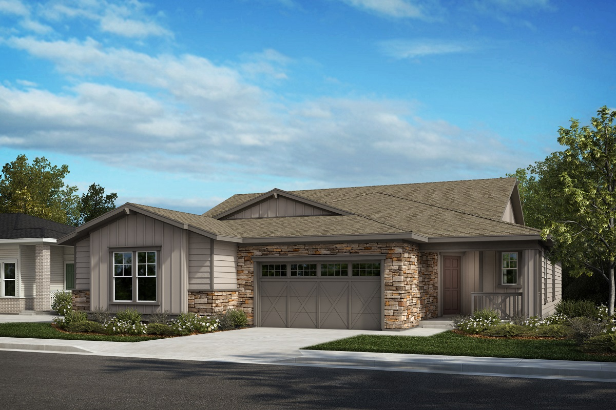 New Homes in Castle Pines, CO - The Canyons - Ranch Villa Collection Plan 1632 - Colorado Ranch