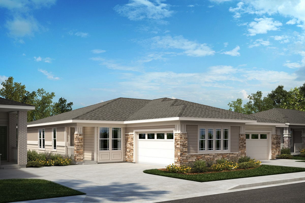 New Homes in Castle Pines, CO - The Canyons - Ranch Villa Collection Plan 1632 - Modern Prairie