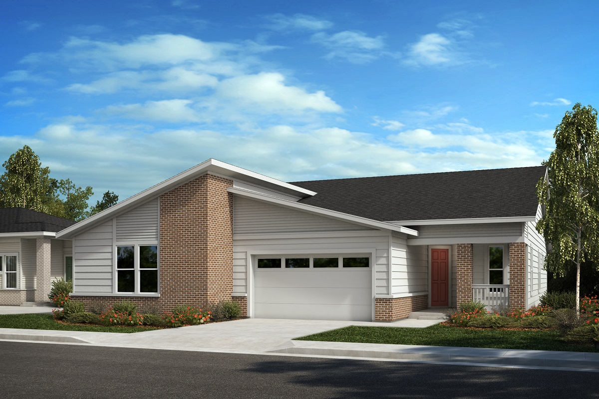 New Homes in Castle Pines, CO - The Canyons - Ranch Villa Collection Plan 1632 - Modern Colorado