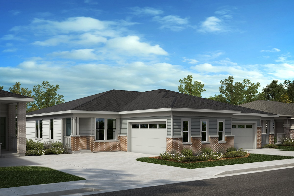 New Homes in Castle Pines, CO - The Canyons - Ranch Villa Collection Plan 1789 - Modern Colorado
