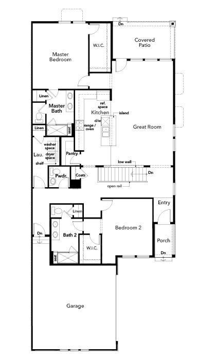 New Homes in Castle Pines, CO - Plan 1789, First Floor