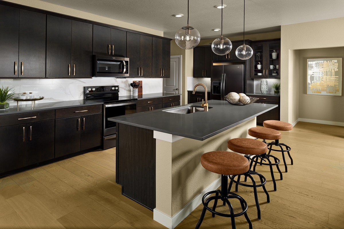 New Homes in Castle Pines, CO - The Canyons - Ranch Villa Collection Aura Kitchen