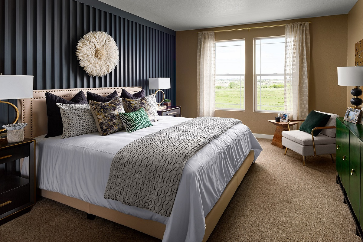 New Homes in Castle Pines, CO - The Canyons - Ranch Villa Collection Aura Master Bedroom