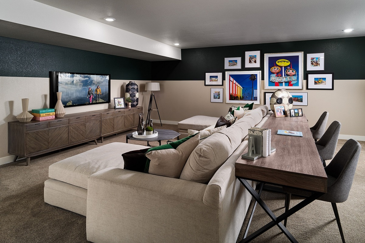 New Homes in Castle Pines, CO - The Canyons - Ranch Villa Collection Aura Rec/Media Room