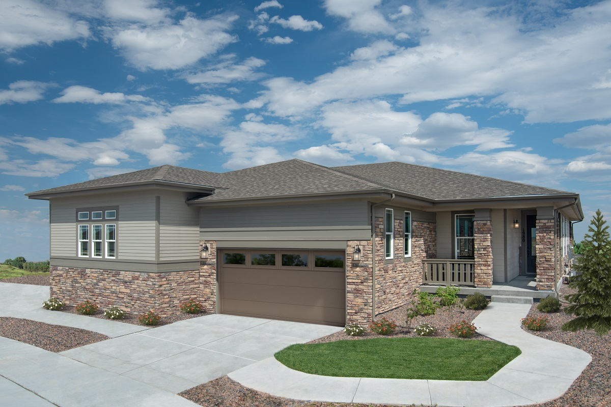 New Homes in Castle Pines, CO - The Canyons - Ranch Villa Collection Plan 1738 & Plan 1498