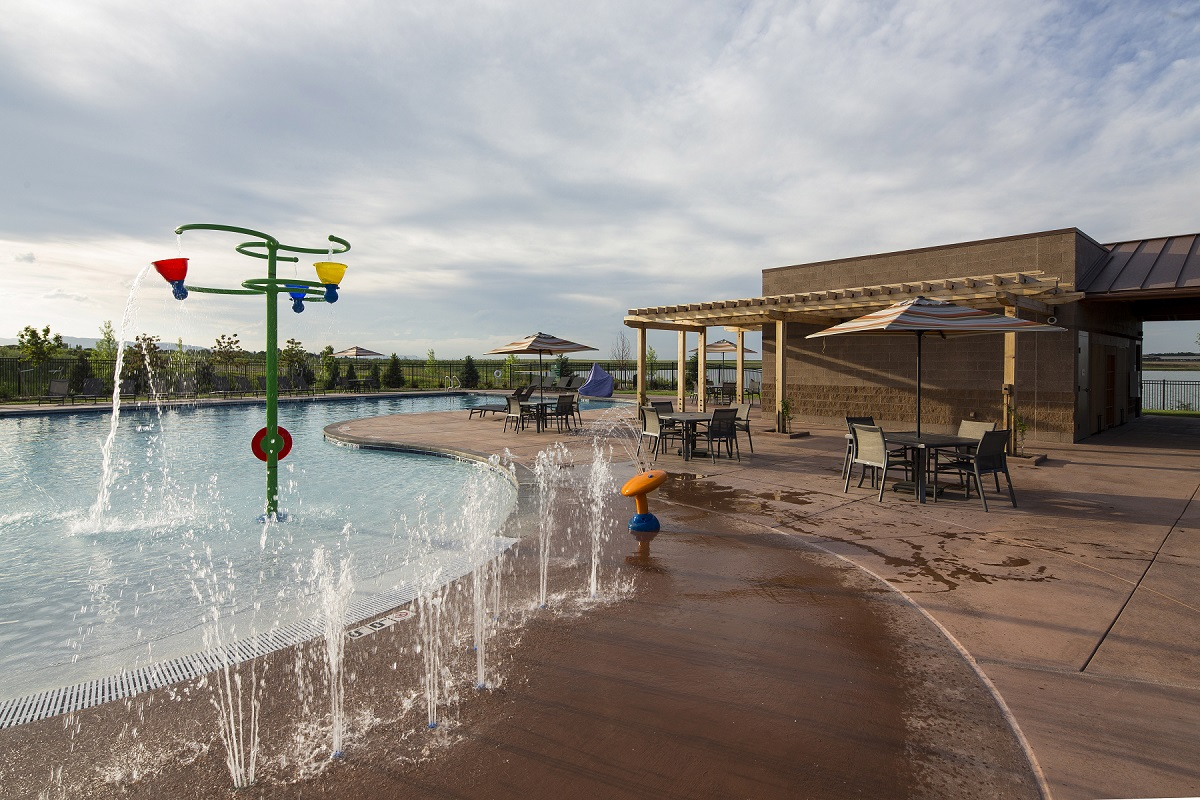 Amenity pool at a KB Home community in Loveland, CO