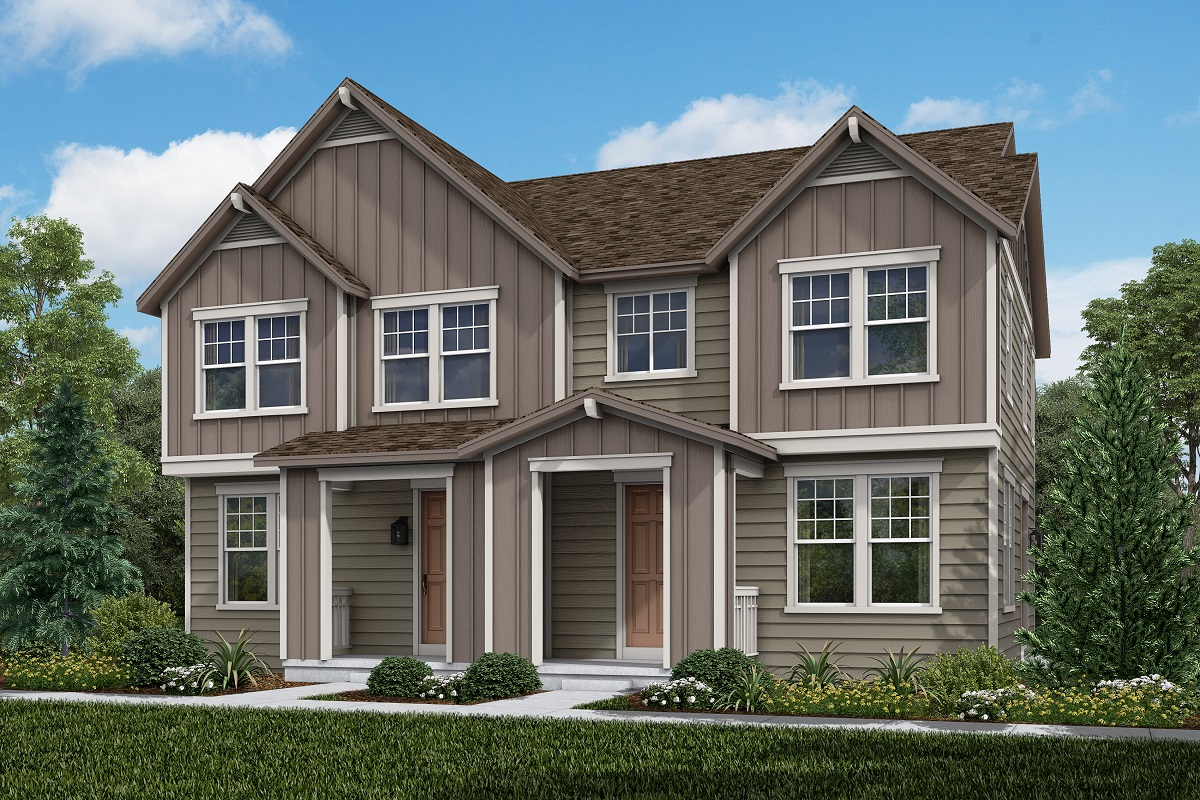 New Homes in Erie, CO - Colliers Hill Villas Plan 1671 & Plan 1671