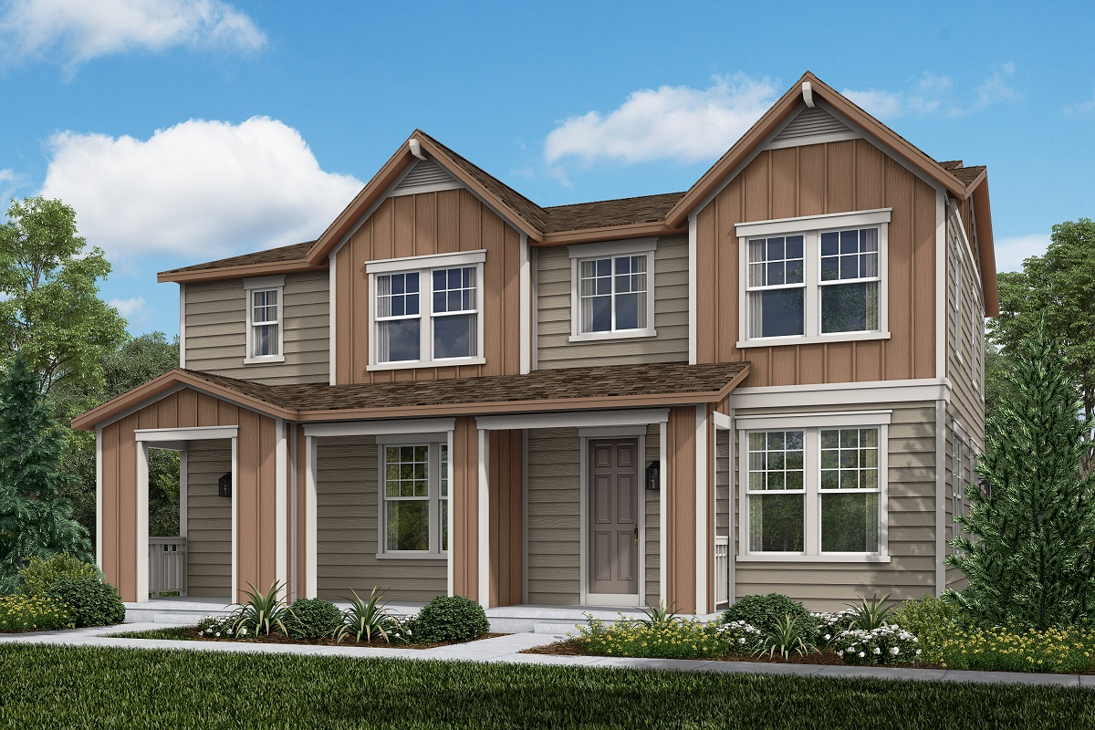 New Homes in Erie, CO - Plan 1754 & Plan 1671 Elevation 4B
