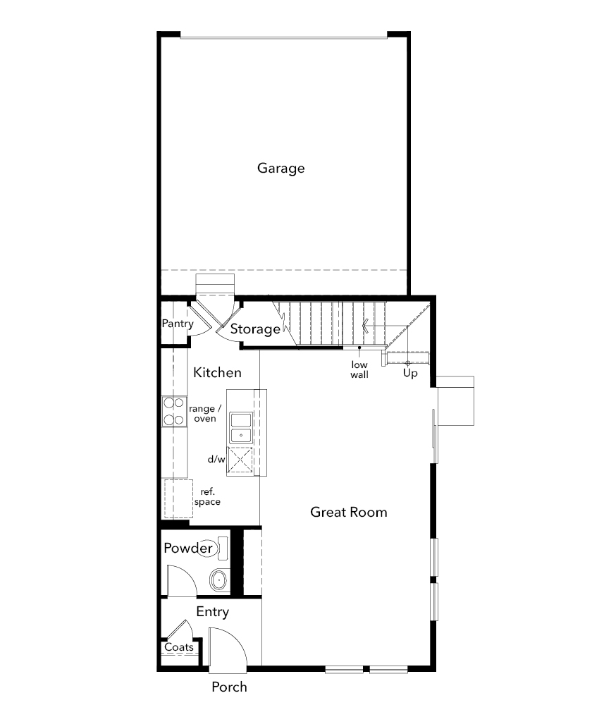 New Homes in Erie, CO - Plan 1671, First Floor