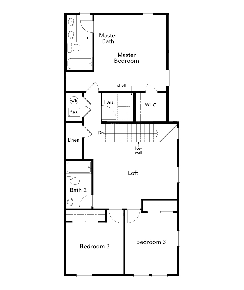 New Homes in Erie, CO - Plan 1671, Second Floor