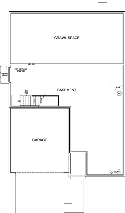 New Homes in Aurora, CO - Plan 1590, Basement