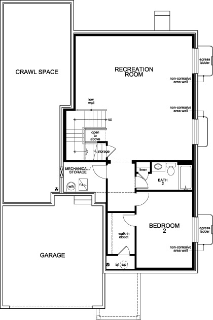 New Homes in Aurora, CO - Plan 1685, Basement