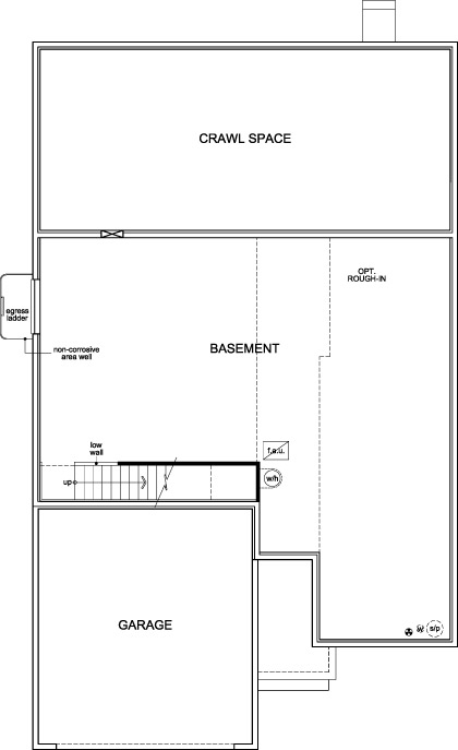New Homes in Aurora, CO - Plan 1818, Basement