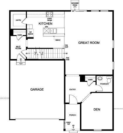 New Homes in Aurora, CO - Plan 2390, First Floor