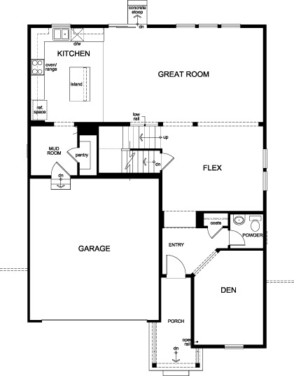New Homes in Aurora, CO - Plan 2651, First Floor