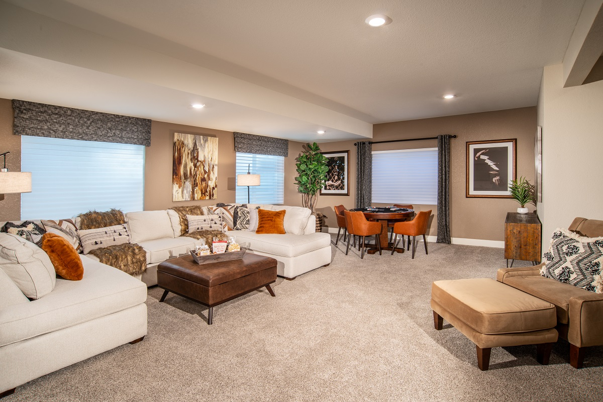 New Homes in Aurora, CO - Copperleaf Plan 1942 - Finished Basement Rec Room