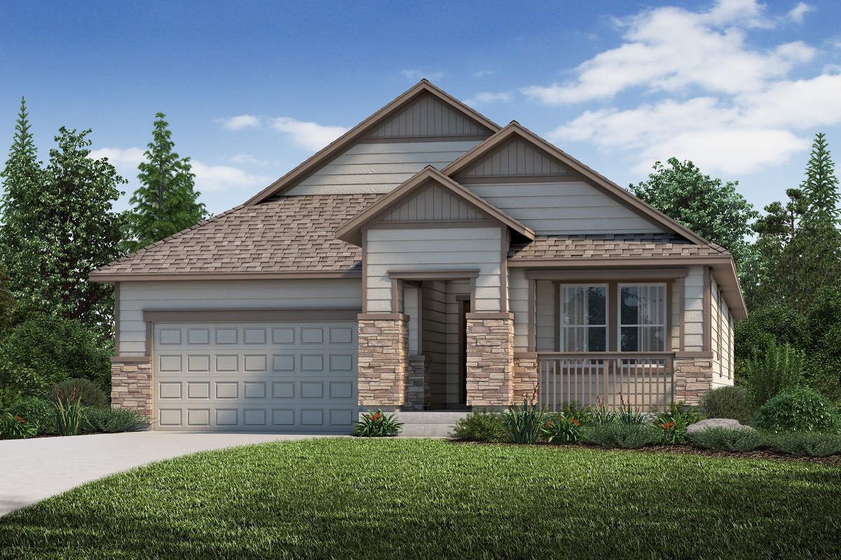 New Homes in Aurora, CO - Plan 1942 - Elevation B