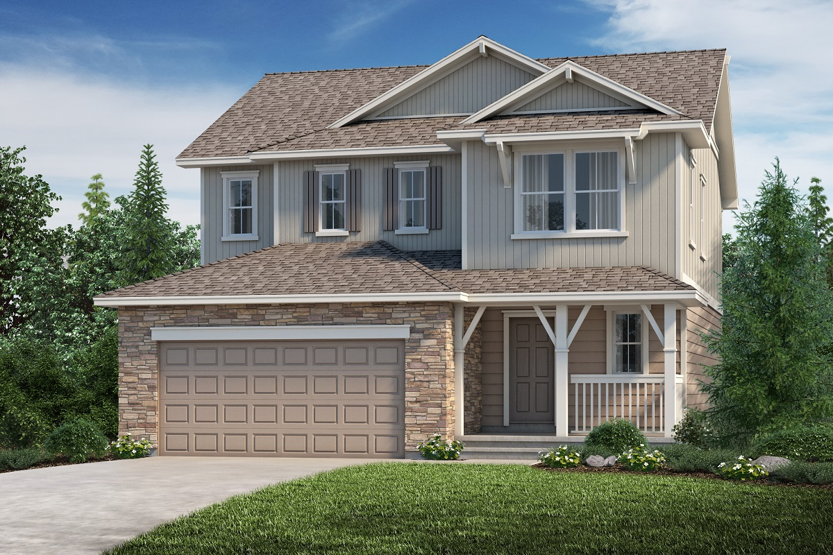 New Homes in Aurora, CO - The Kittredge - Elevation B