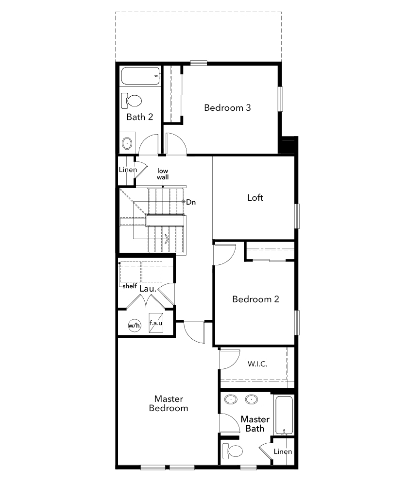 New Homes in Erie, CO - Plan 1754, Second Floor