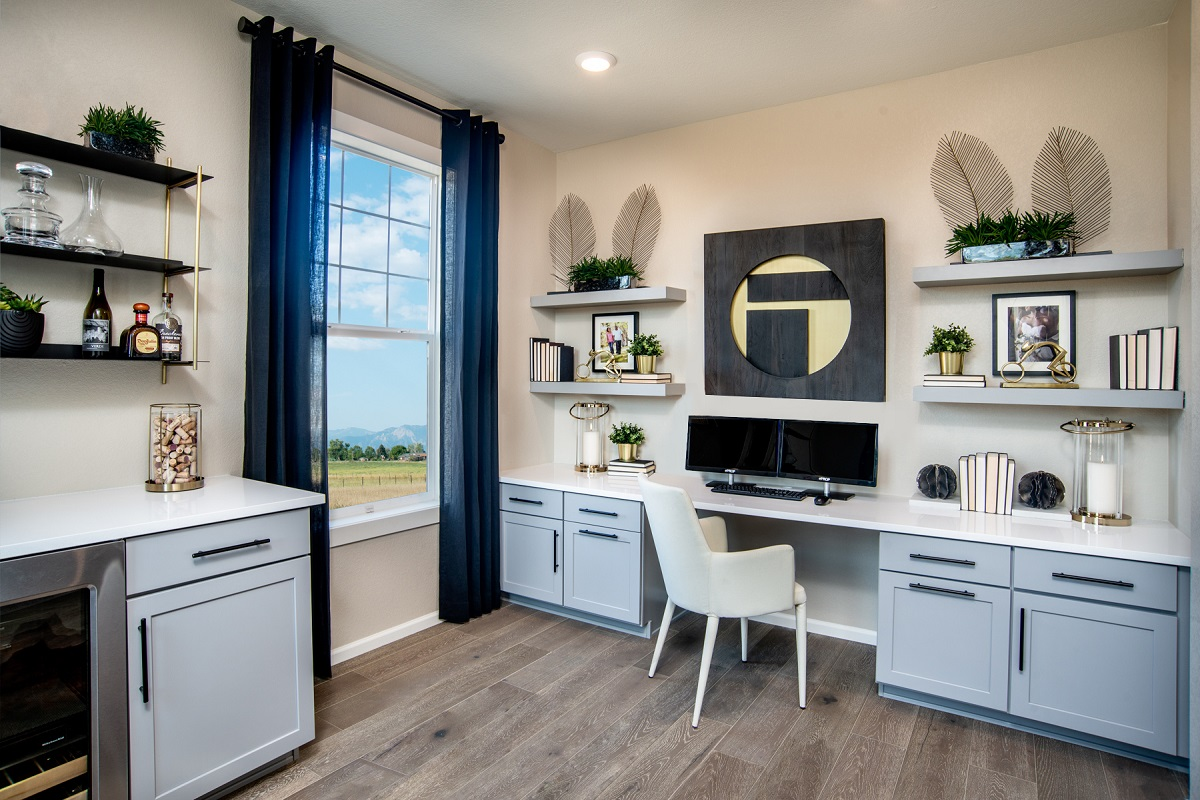 New Homes in Erie, CO - Flatiron Meadows Villas Plan 1963 Home Office
