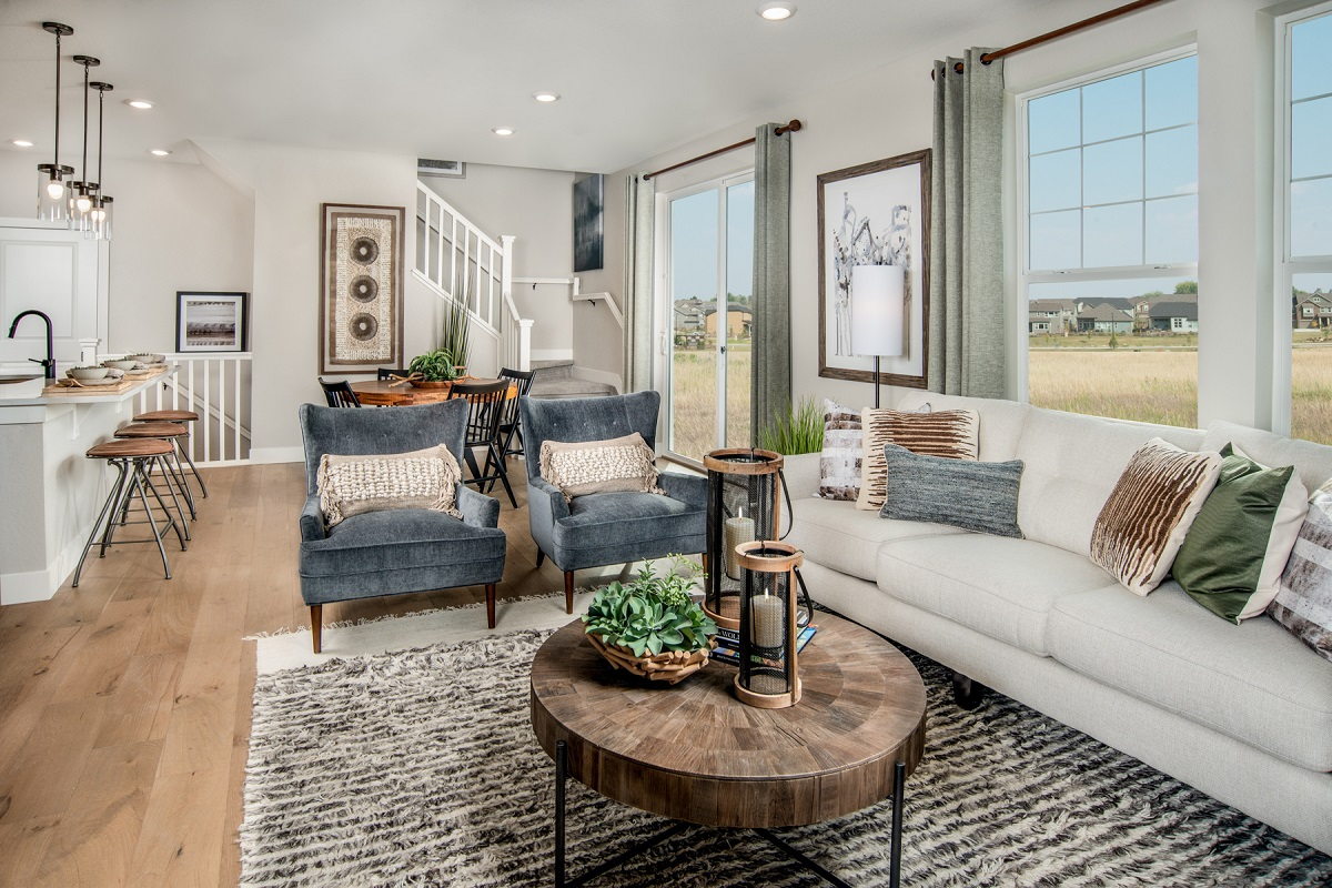 New Homes in Erie, CO - Flatiron Meadows Villas Plan 1671 Great Room