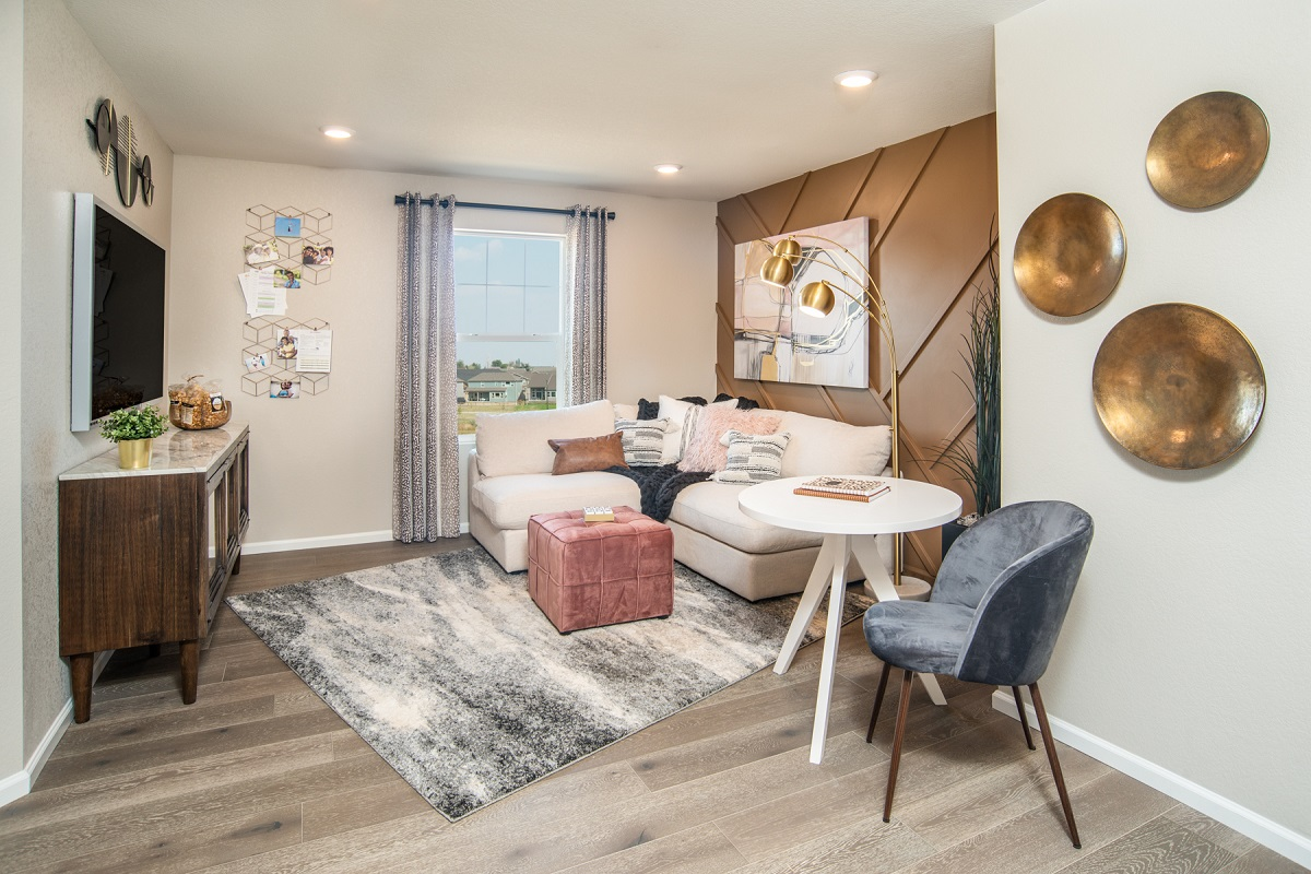 New Homes in Erie, CO - Flatiron Meadows Villas Plan 1963 Loft Media Room