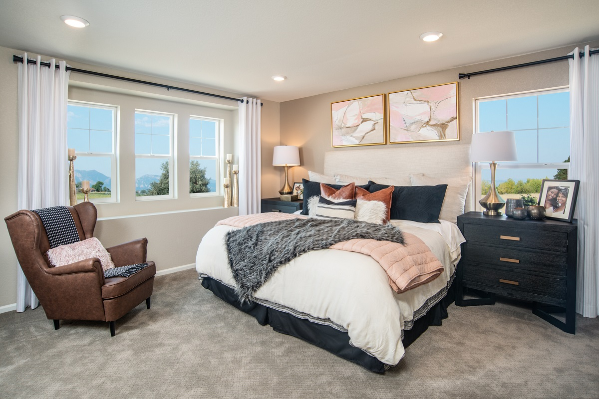 New Homes in Erie, CO - Flatiron Meadows Villas Plan 1963 Master Bedroom