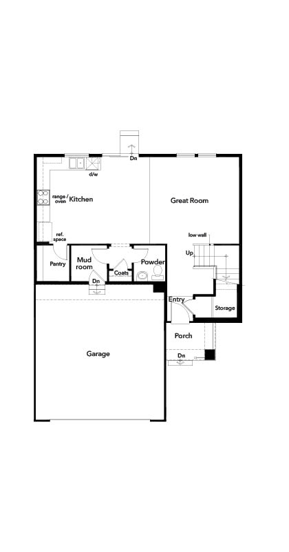 New Homes in Berthoud, CO - The Decker, First Floor