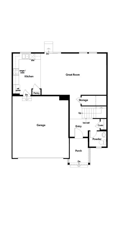 New Homes in Berthoud, CO - Plan 1923, First Floor