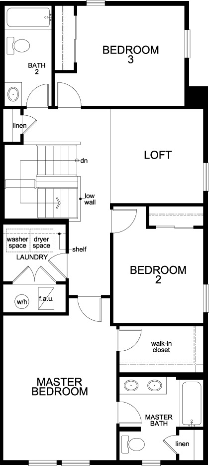 New Homes in Thornton, CO - Plan 1754, Second Floor