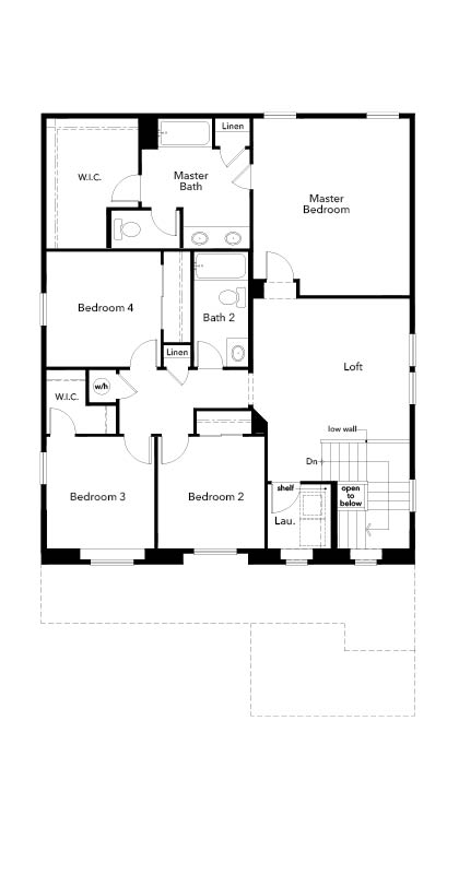 New Homes in Aurora, CO - Plan 2502, Second Floor