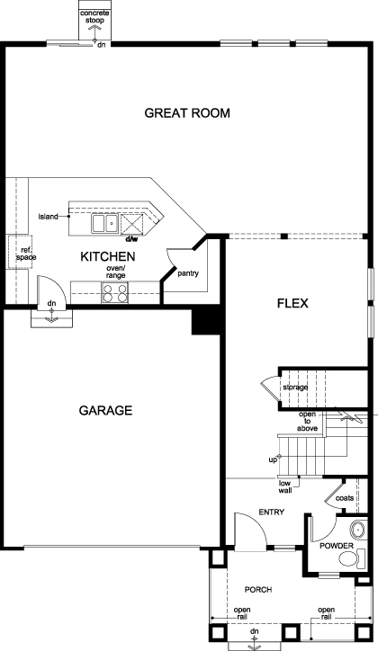 New Homes in Aurora, CO - Plan 2502, First Floor
