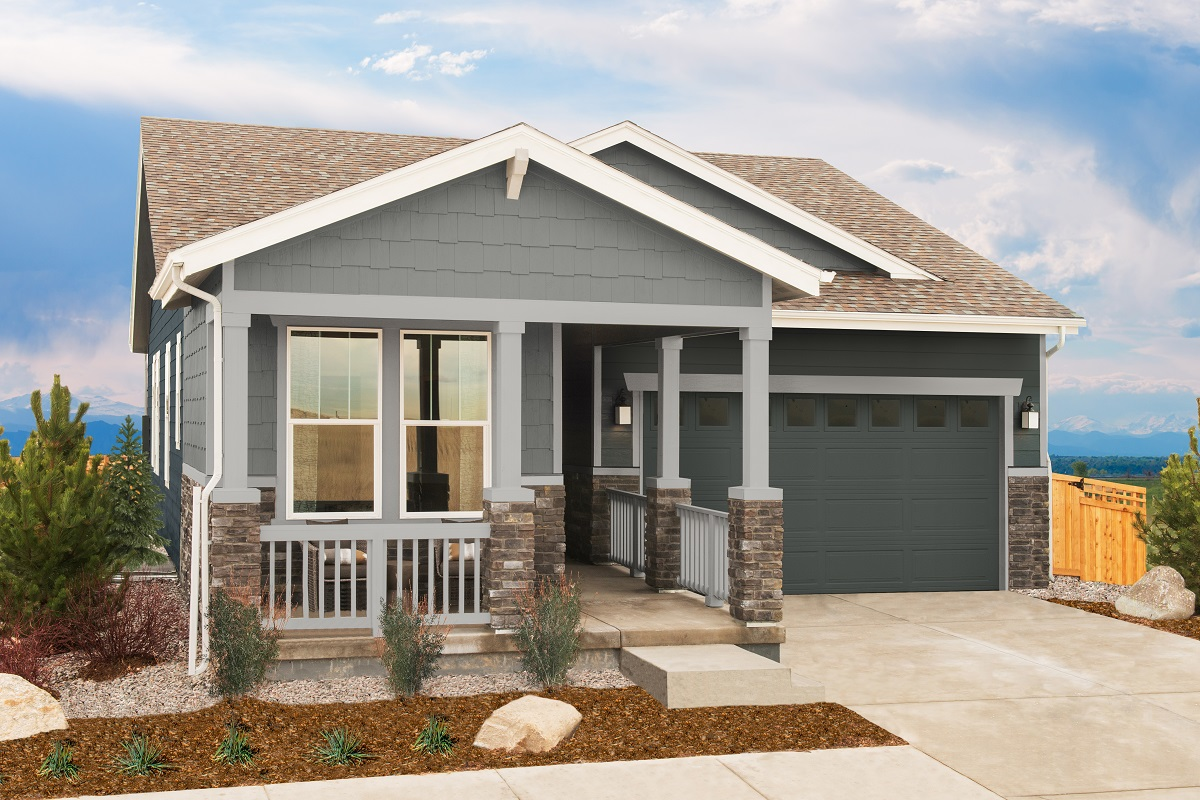 New Homes in Aurora, CO - Painted Prairie Plan 1382 Modeled Elevation B