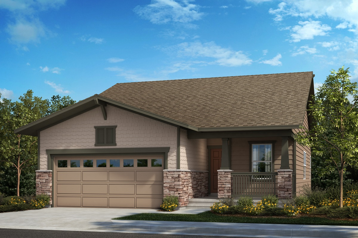 New Homes in Aurora, CO - Painted Prairie The Aspire - Elevation B