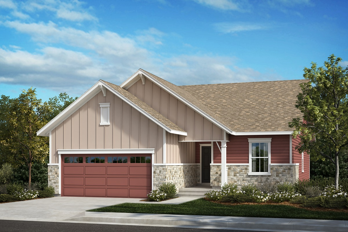 New Homes in Aurora, CO - Painted Prairie The Chaucer - Elevation A