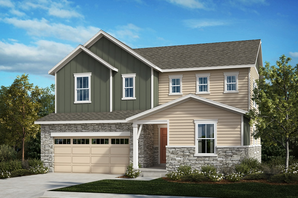 New Homes in Aurora, CO - Painted Prairie The Lafayette - Elevation A