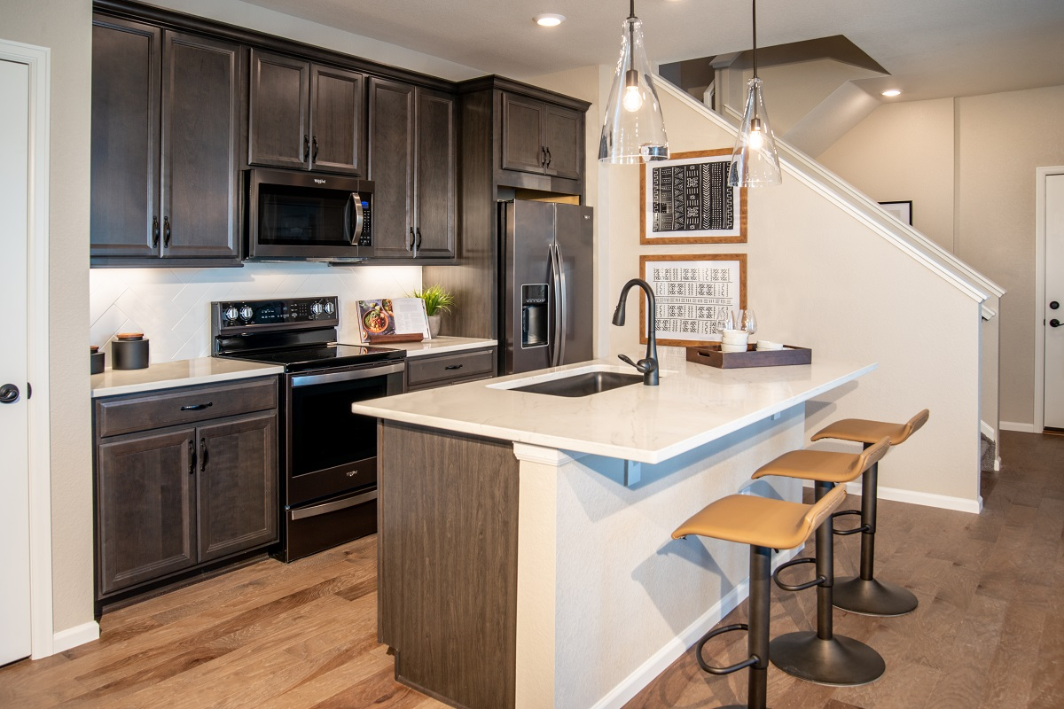 New Homes in Aurora, CO - Painted Prairie Villas Plan 1430 Kitchen