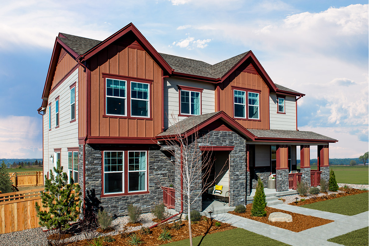 New Homes in Aurora, CO - Painted Prairie Villas Plan 1671 & Plan 1430