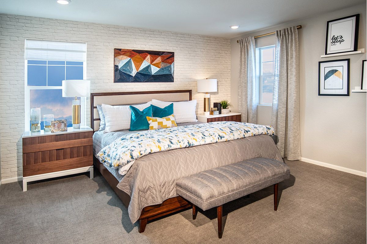New Homes in Aurora, CO - Painted Prairie Villas Plan 1671 Master Bedroom