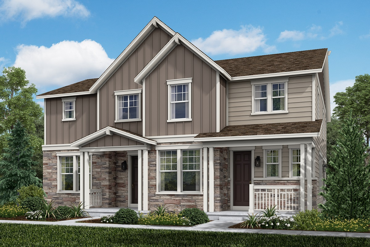 New Homes in Aurora, CO - Plan 1430 & Plan 1885 - Farmhouse