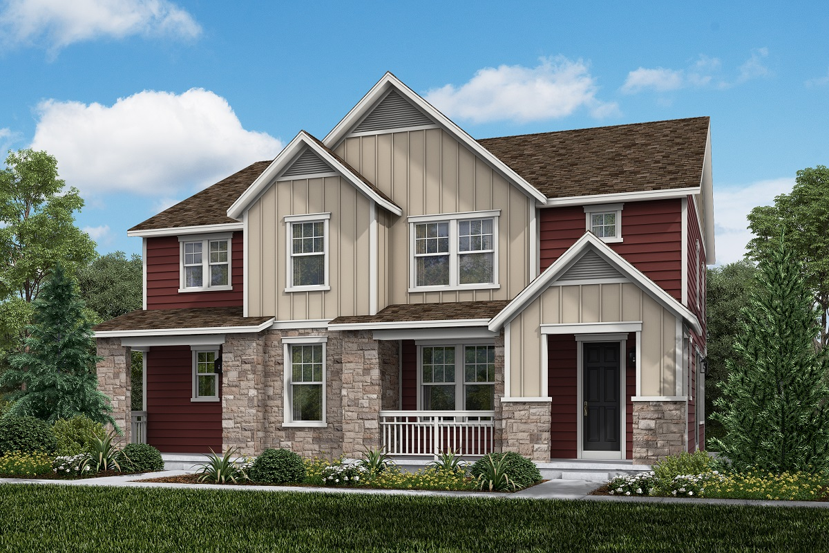 New Homes in Aurora, CO - Plan 1885 and Plan 1754  Farmhouse Style