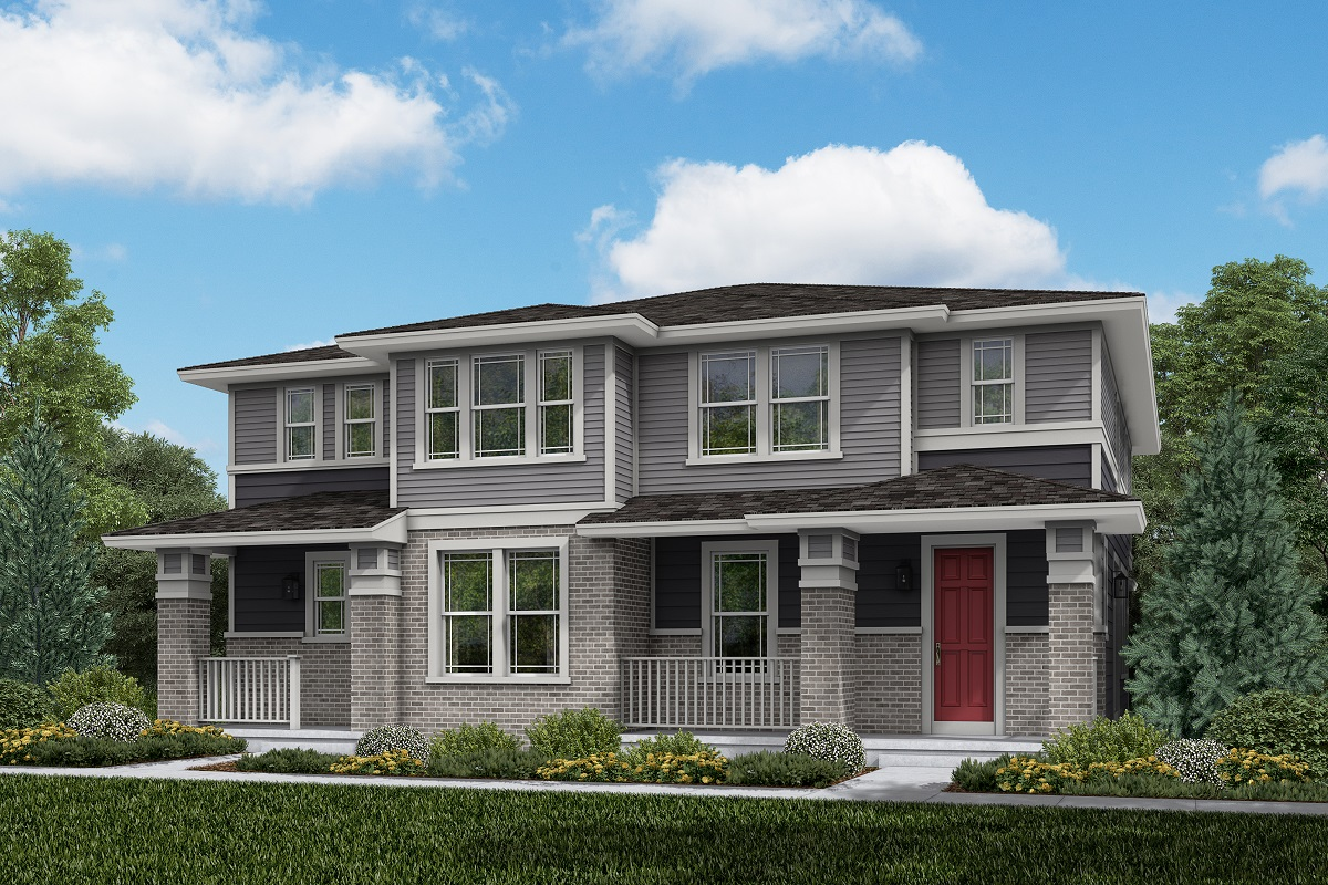 New Homes in Aurora, CO - Plan 1885 and Plan 1754  Prairie Style
