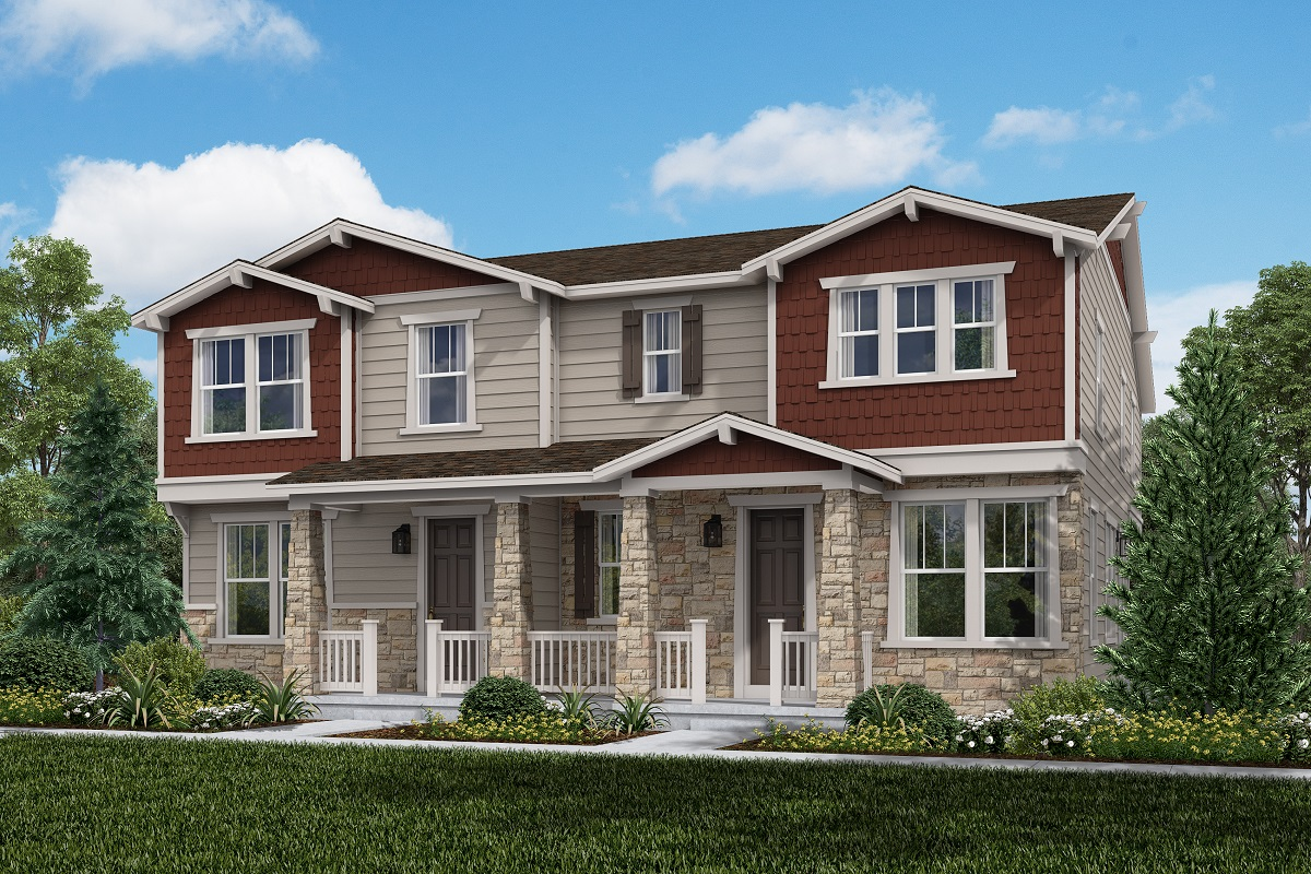 New Homes in Aurora, CO - Plan 1963 and Plan 1671 Elevation A