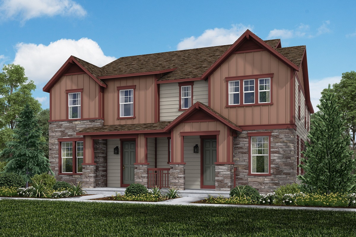 New Homes in Aurora, CO - Plan 1963 and Plan 1671 Elevation B
