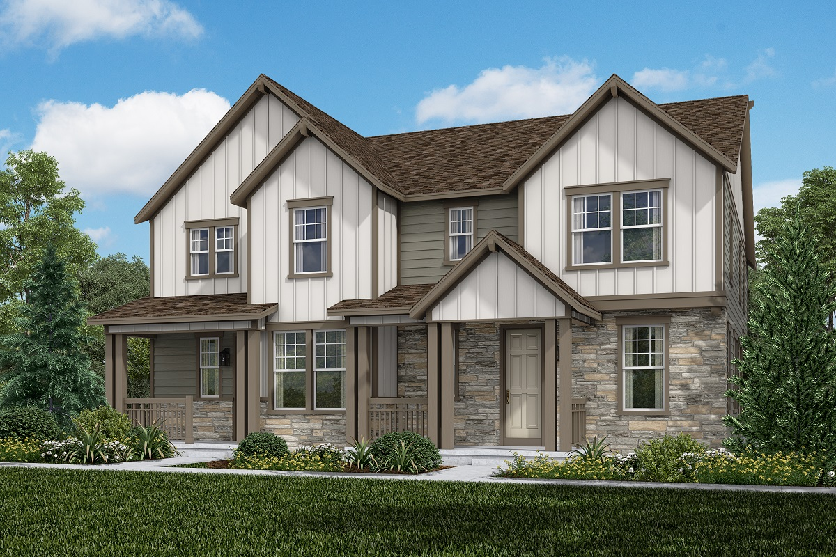 New Homes in Aurora, CO - Plan 1885 & Plan 1963 Elevation B