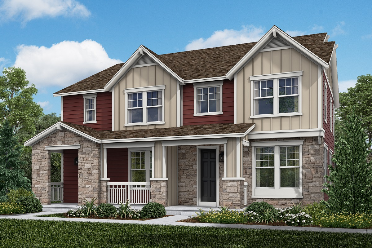 New Homes in Aurora, CO - Plan 1754 and Plan 1671 Farmhouse Style