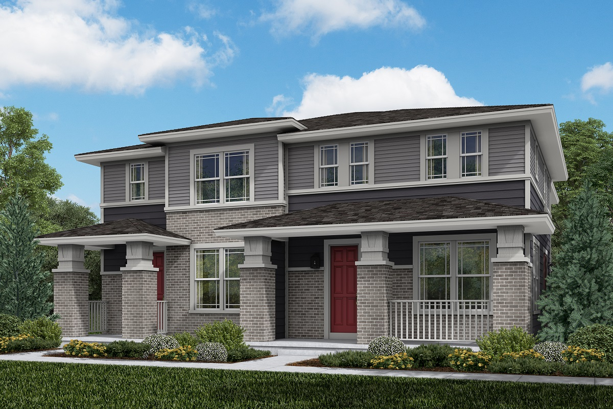 New Homes in Aurora, CO - Plan 1754 and Plan 1671 Prairie Style