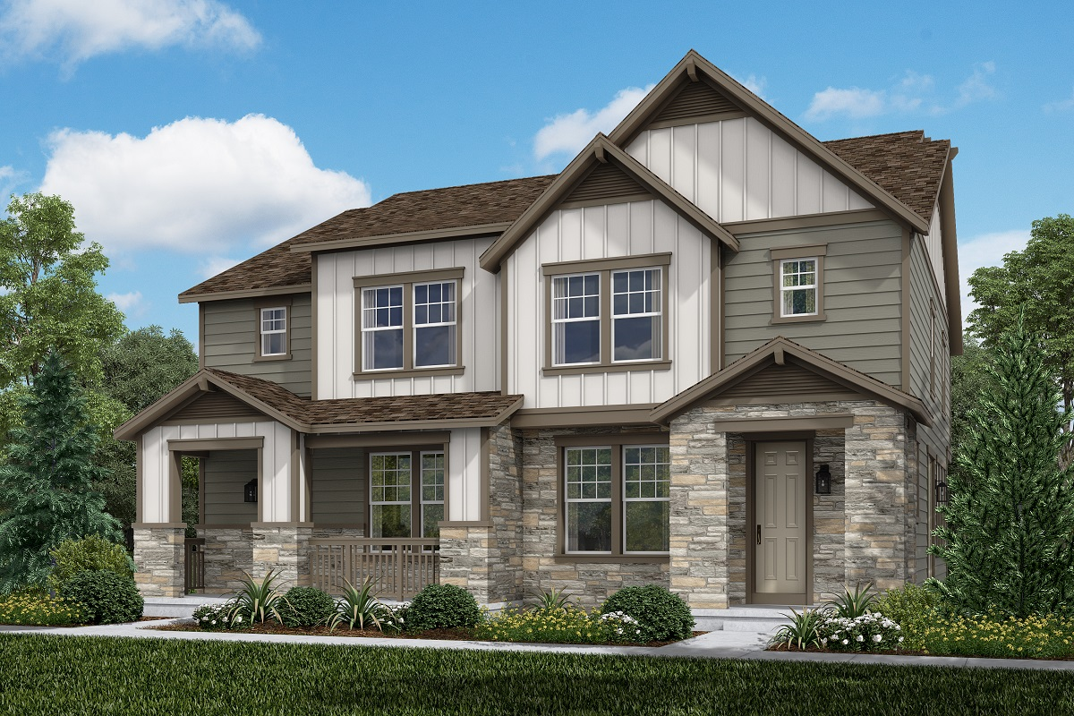 New Homes in Aurora, CO - Plan 1754 and Plan 1754 Farmhouse Style