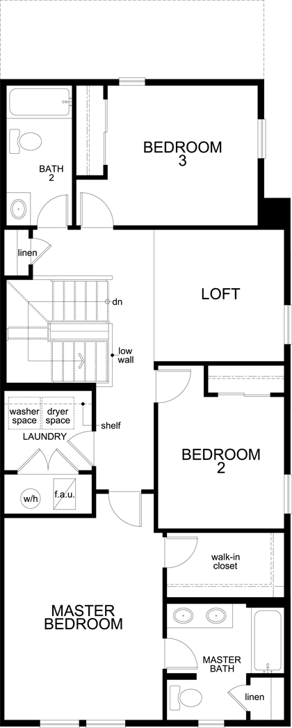 New Homes in Aurora, CO - Plan 1754, Second Floor