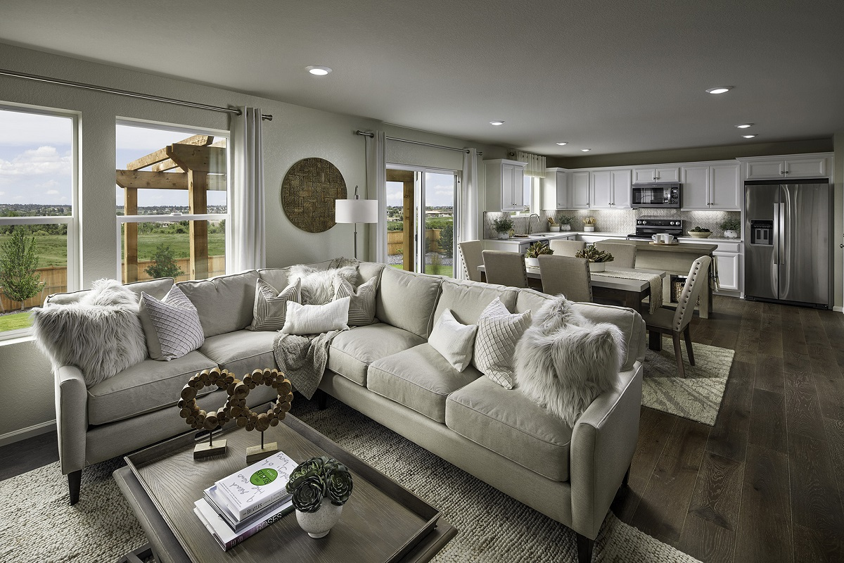 New Homes in Aurora, CO - Sky Ranch Vision - Great Room